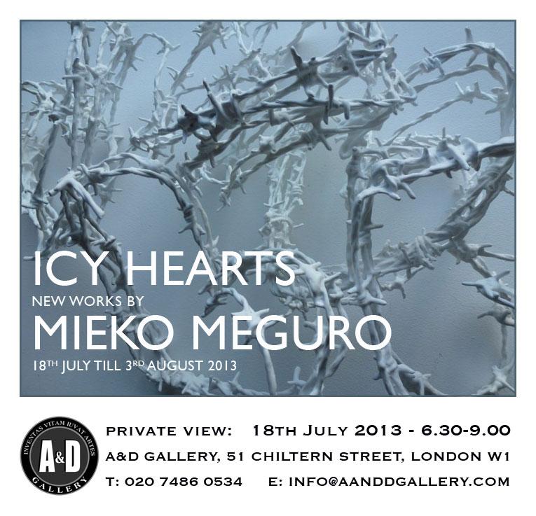 mieko invite A&D Gallery Icy Hearts