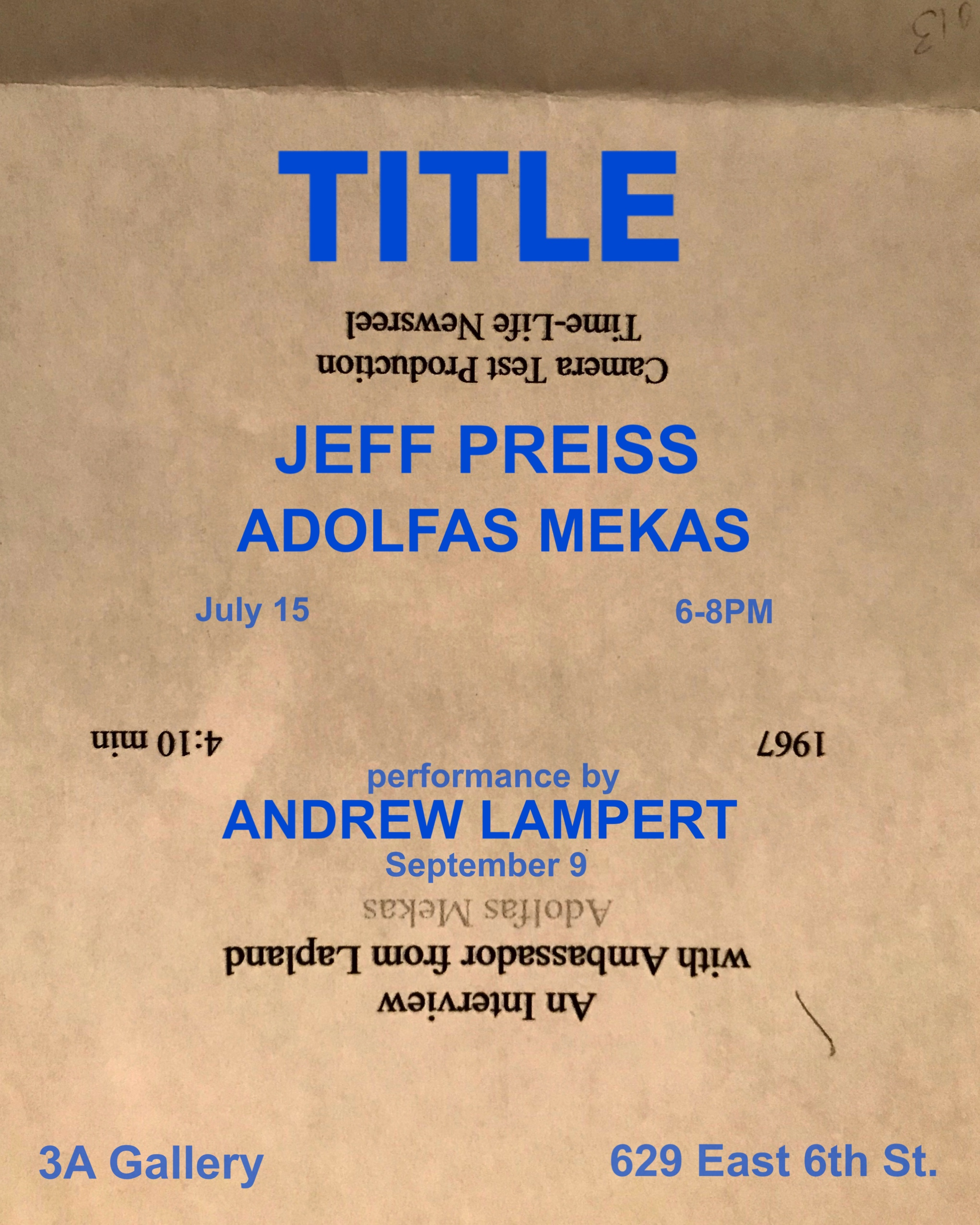 "TITLE for Adolfas Mekas Jeff Preiss 2018 16mm film transferred to DVD on  Eight 4"" LCD monitors and a projection of  An Interview with Ambassador  from ... d12d6d4182b50"